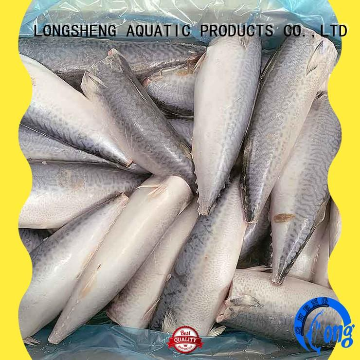 LongSheng whole frozen mackerel fillets for market
