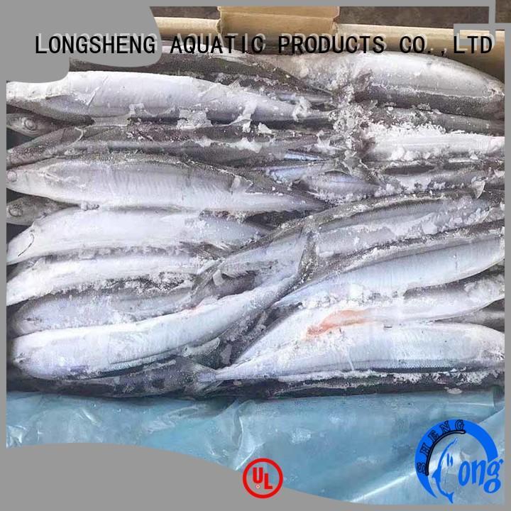 LongSheng pacific Frozen pacific saury online for restaurant