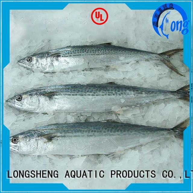 security frozen spanish mackerel fillets on sale for supermarket LongSheng