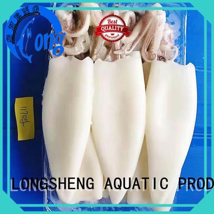 LongSheng standard frozen whole squid manufacturer for restaurant