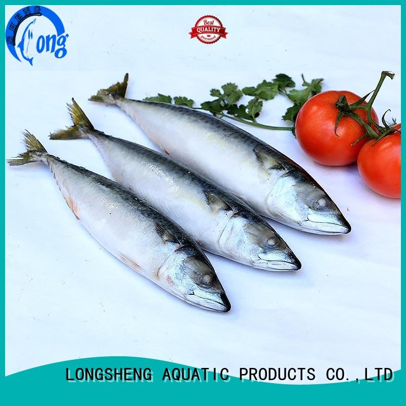 LongSheng round frozen mackerel fillets food for supermarket