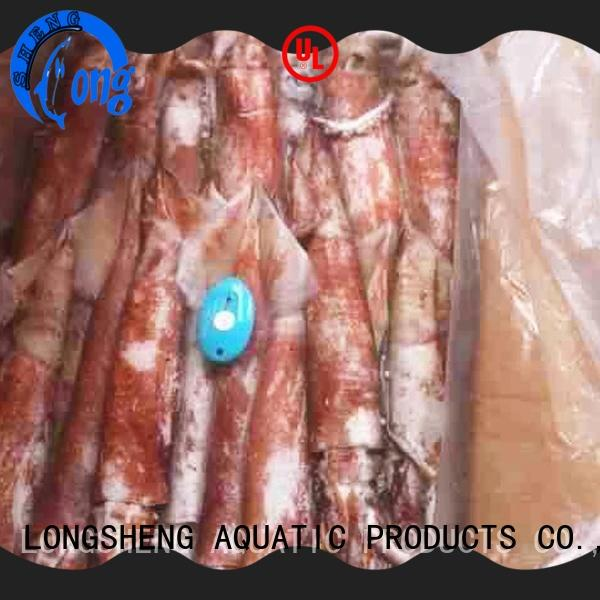 LongSheng fish frozen squid loligo suppliers company for cafeteria