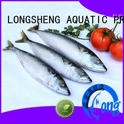 LongSheng tasty frozen whole round mackerel frozen for hotel