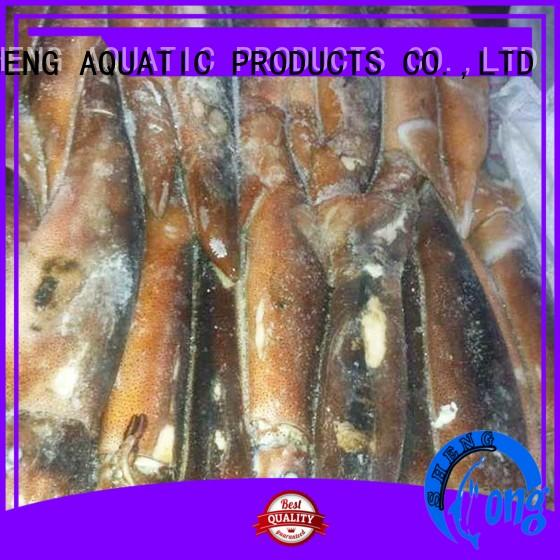 LongSheng natural frozen whole round squid loligo for restaurant