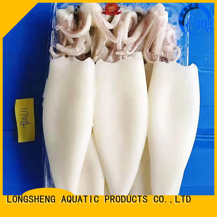 LongSheng Best frozen whole round squid Supply for hotel