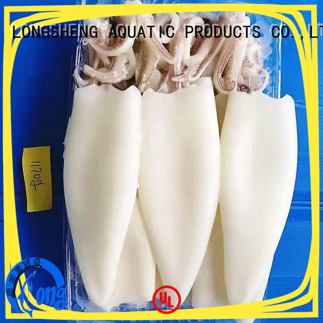 LongSheng healthy frozen whole uncleaned squid for sale company for hotel