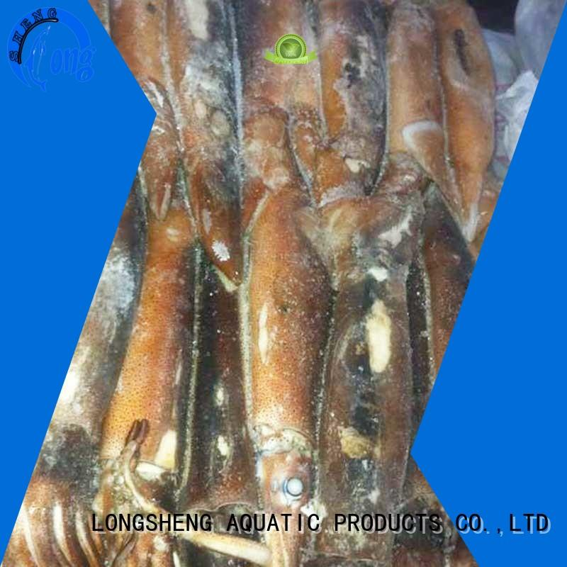 LongSheng healthy frozen whole uncleaned squid for sale on sale for restaurant