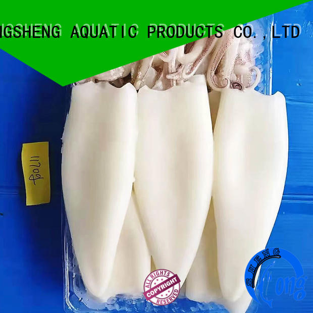 LongSheng standard frozen whole uncleaned squid company for hotel