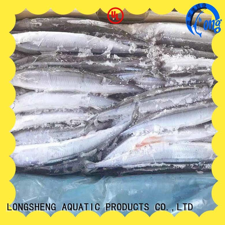 LongSheng natural Frozen pacific saury online for cafeteria