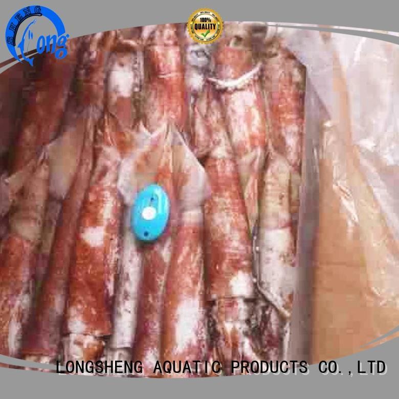 LongSheng argintinus frozen squid flower company for restaurant
