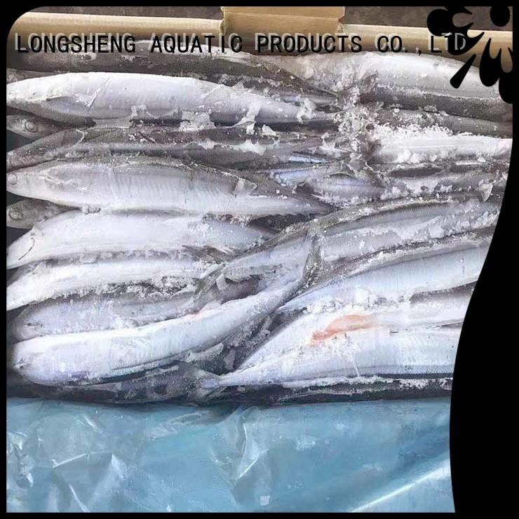 LongSheng saurycololabis frozen pacific saury wr factory for cafe