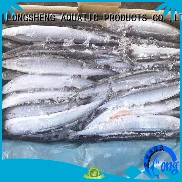 LongSheng natural Frozen Pacific Saury Suppliers frozen for hotel
