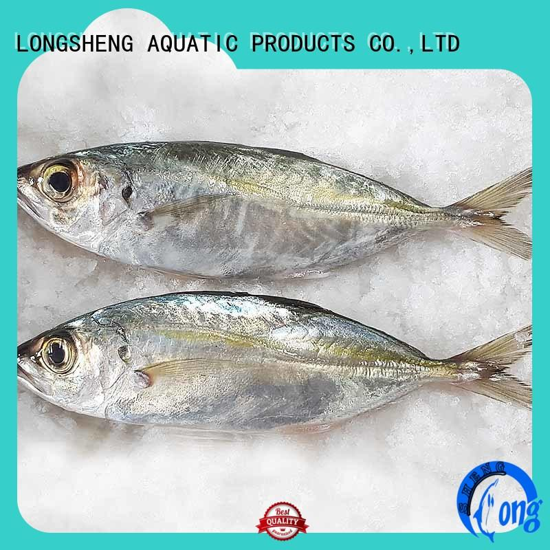 LongSheng natural frozen fish horse mackerel company for cafeteria