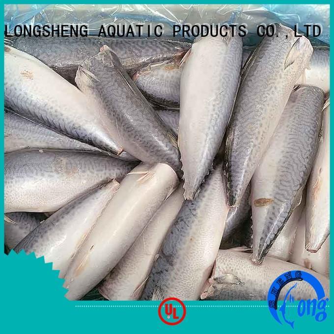 LongSheng flaps frozen mackerel fish price manufacturers for supermarket