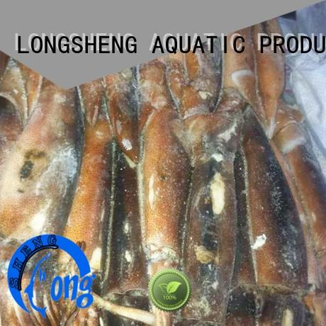 chinese frozen squid export rings for cafeteria LongSheng