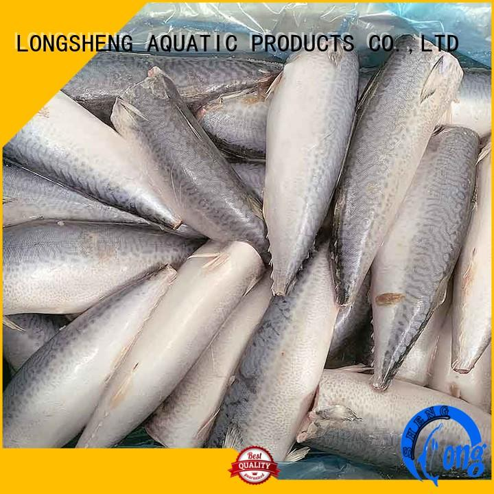 good quality frozen chub mackerel fillets for hotel LongSheng