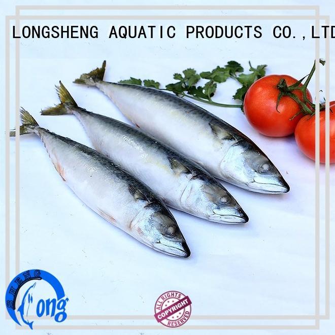 LongSheng best frozen mackerel fish food for supermarket