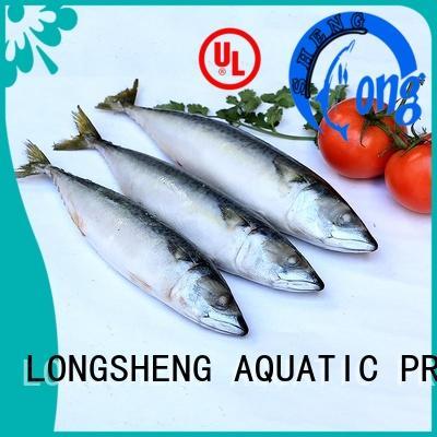LongSheng fishfrozen frozen mackerel whole sale factory for supermarket
