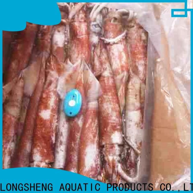 LongSheng frozen whole uncleaned squid Suppliers for restaurant