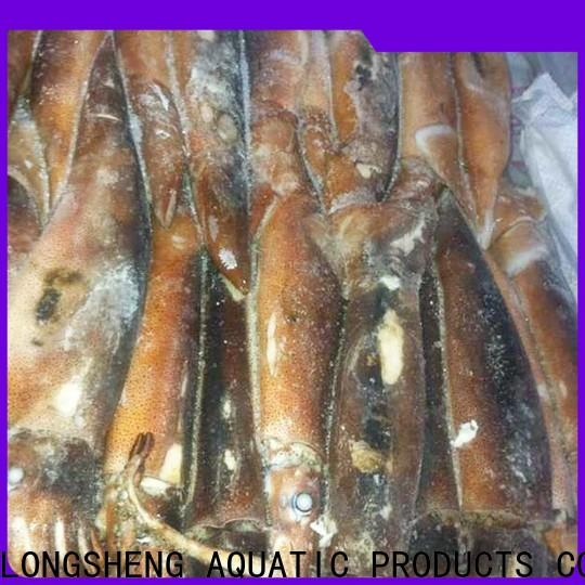 LongSheng clean frozen squid export company for hotel