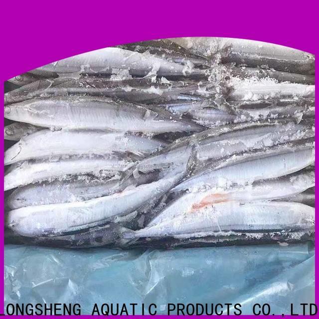 LongSheng bulk purchase Frozen pacific saury for cafe