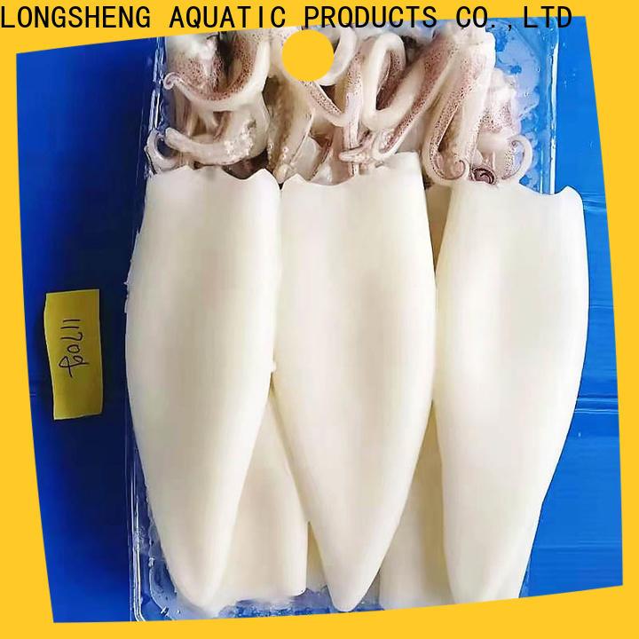 LongSheng flowersquid frozen squid export for cafe