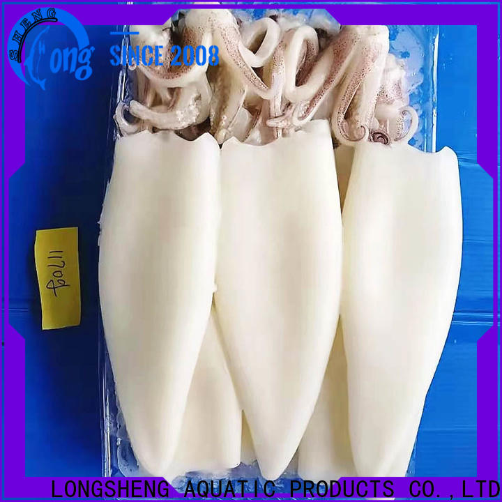 LongSheng Best frozen uncleaned squid for business for cafeteria