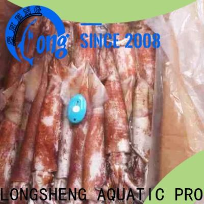 LongSheng argintinus frozen squid from china for cafeteria
