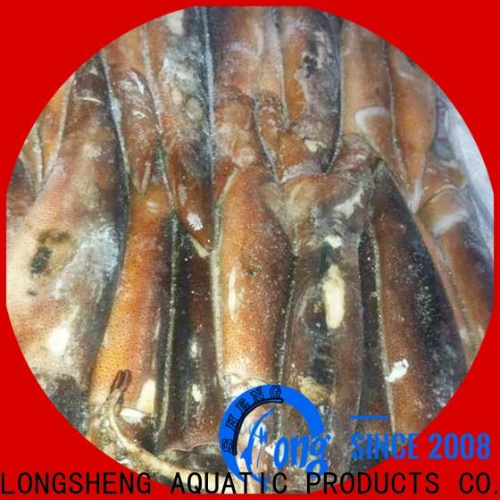 LongSheng tubetentacle) frozen illex squid Supply for cafeteria