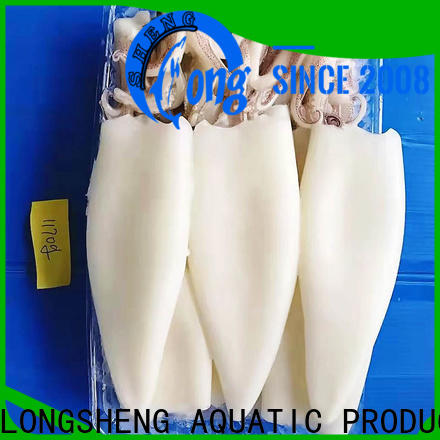 LongSheng tubetentacle) frozen squid from china manufacturers for cafeteria