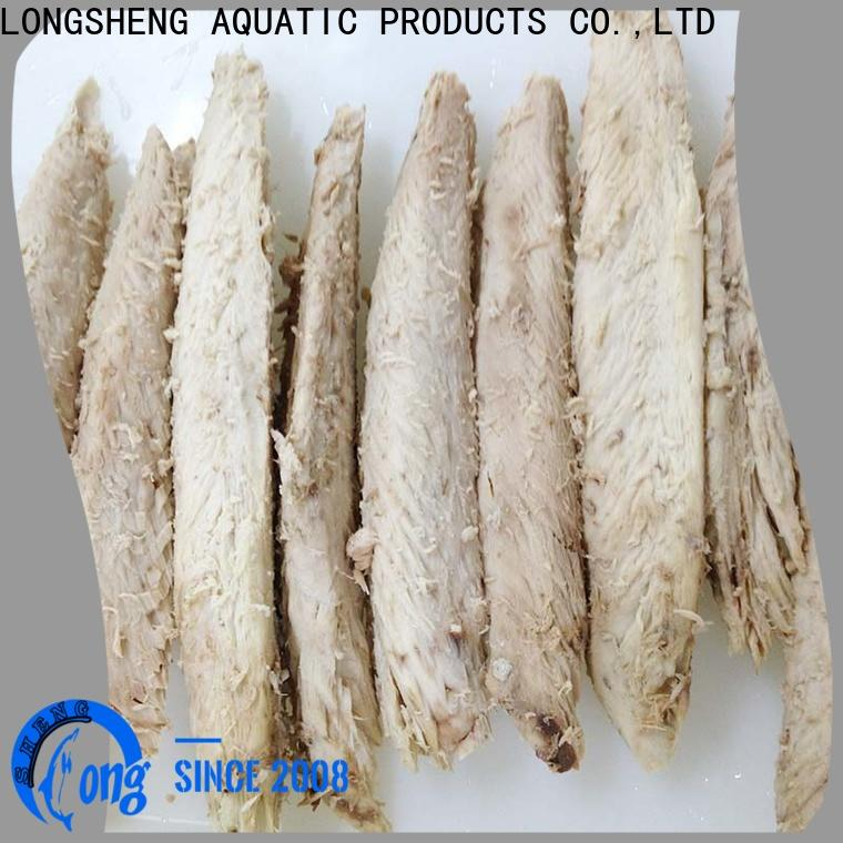 LongSheng healthy frozen skipjack tuna loin factory for home party